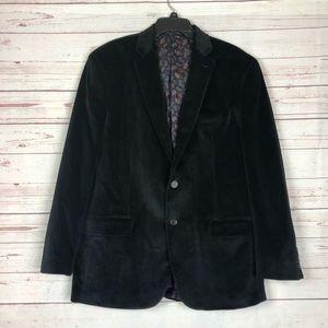 Chaps Black Velvet 2 Button Blazer Size 44R
